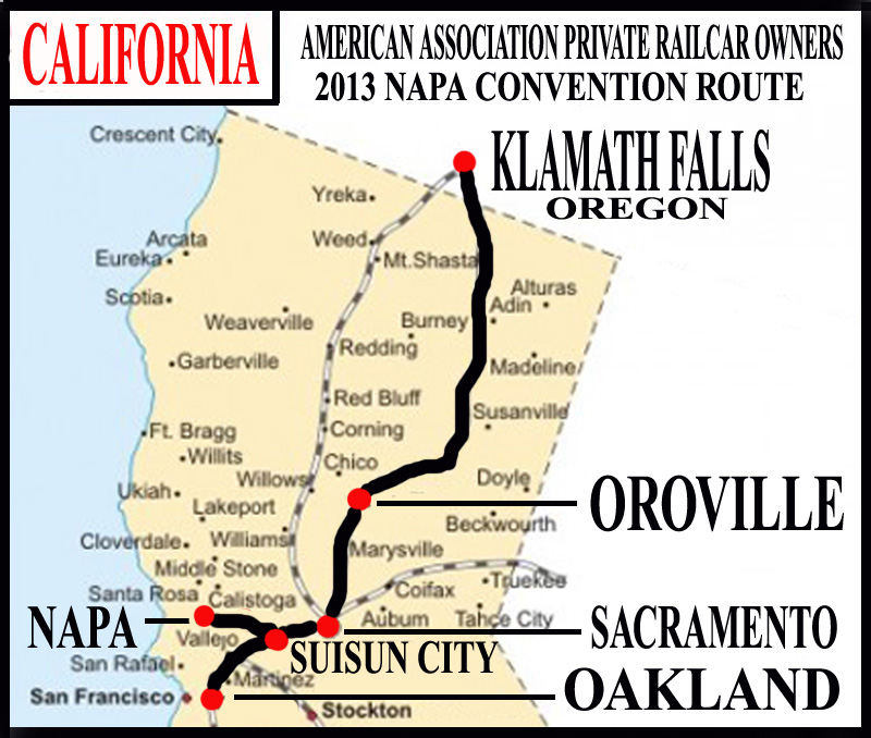 Cruising By Rail-Napa Valley Limited/American ociation of ... on oklahoma railroad map, san francisco railroad map, michigan railroad map, british columbia railroad map, california railroad map, houston area railroad map, oakland railroad map, marta route map, el dorado county railroad map, colorado railroad map,