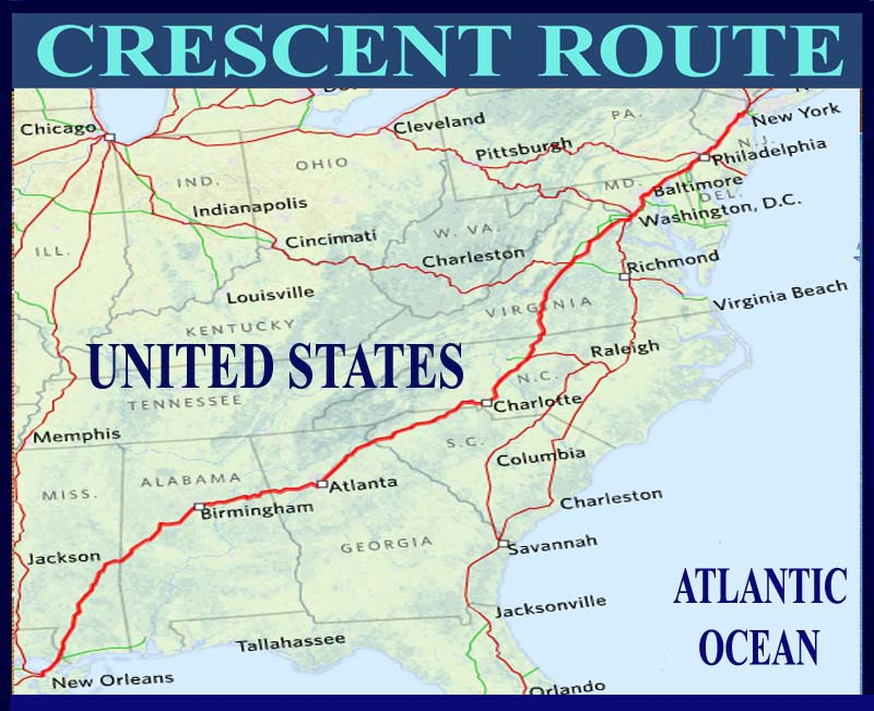 Amtrak Nc Map.National Train Route Guide And Railway Information Directory