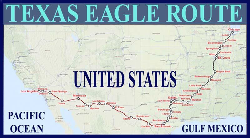 Texas Eagle Route Map